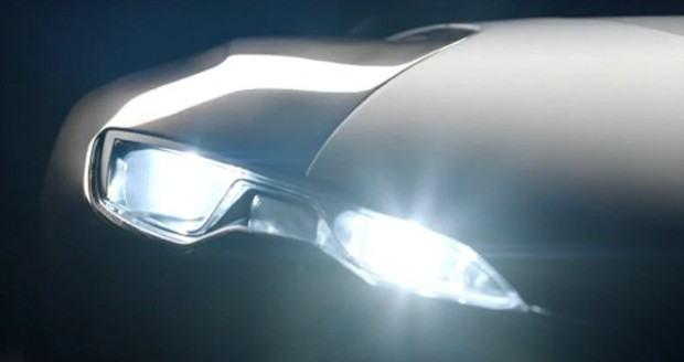 Peugeot-Onyx-concept-car-teaser-headlight-on