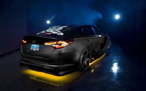 2013-Kia-Optima-SX-Limited-Batman-rear-three-quarter