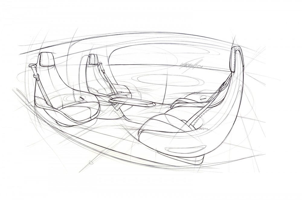 TecDay Autonomous Mobility Sunnyvale 2014/ Design Sketches  Interior of an autnomous car of the future