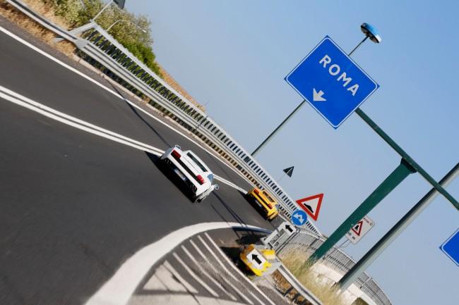 strada per roma