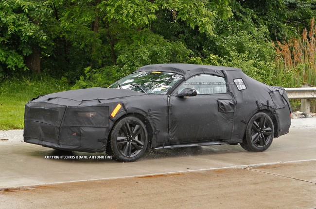 2015-Ford-Mustang-prototype-front-three-quarter-moving