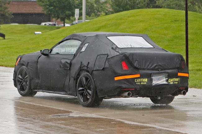 2015-Ford-Mustang-prototype-rear-three-quater