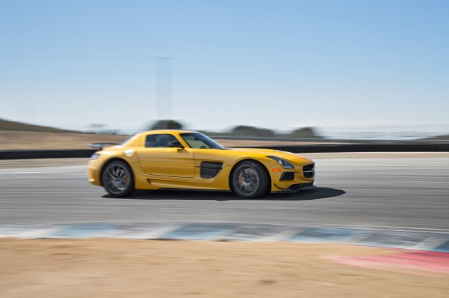 2014-Mercedes-Benz-SLS-AMG-Black-Series-side-in-motion-022