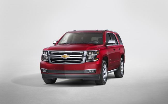 2015 Chevrolet Tahoe in Crystal Claret front from New York Revea