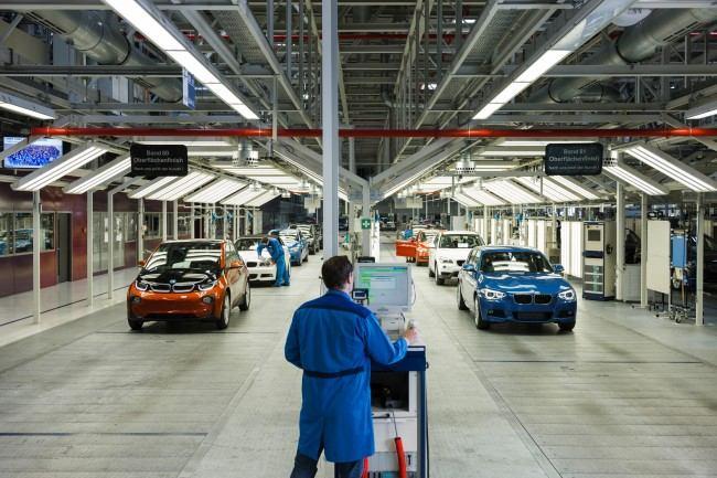 Endmontage BMW Werk Leipzig