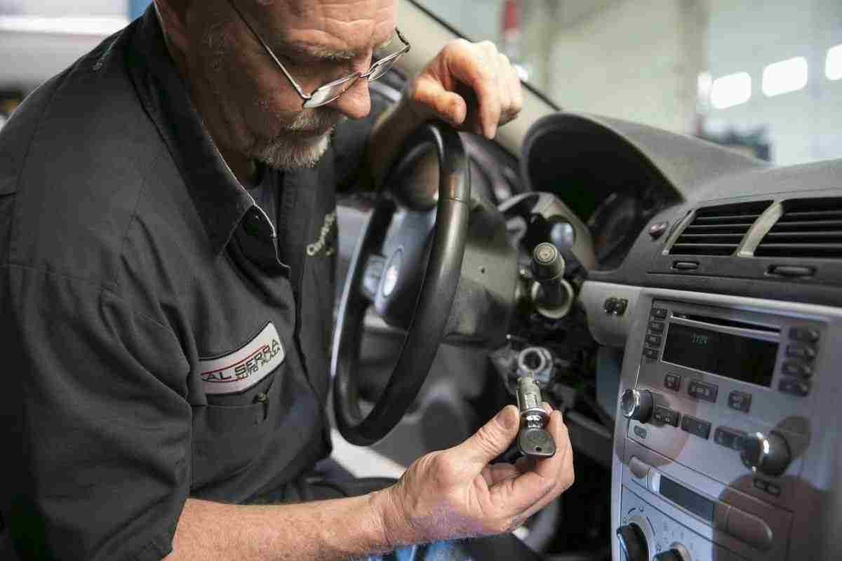 Gary Pittam performs a recall service on a Chevrolet Cobalt at Al Serra Chevrolet in Grand Blanc