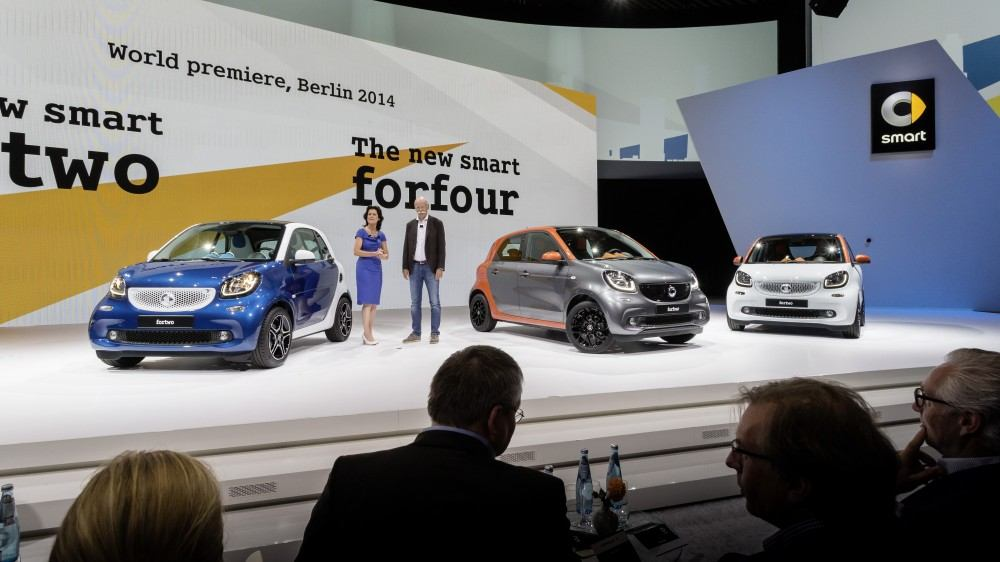 The new smart fortwo and forfour, World premiere, Berlin 2014
