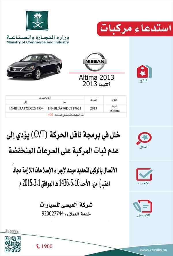 وزارة التجارة تستدعي عدد 406 نيسان التيما 2013 سعودي شفت