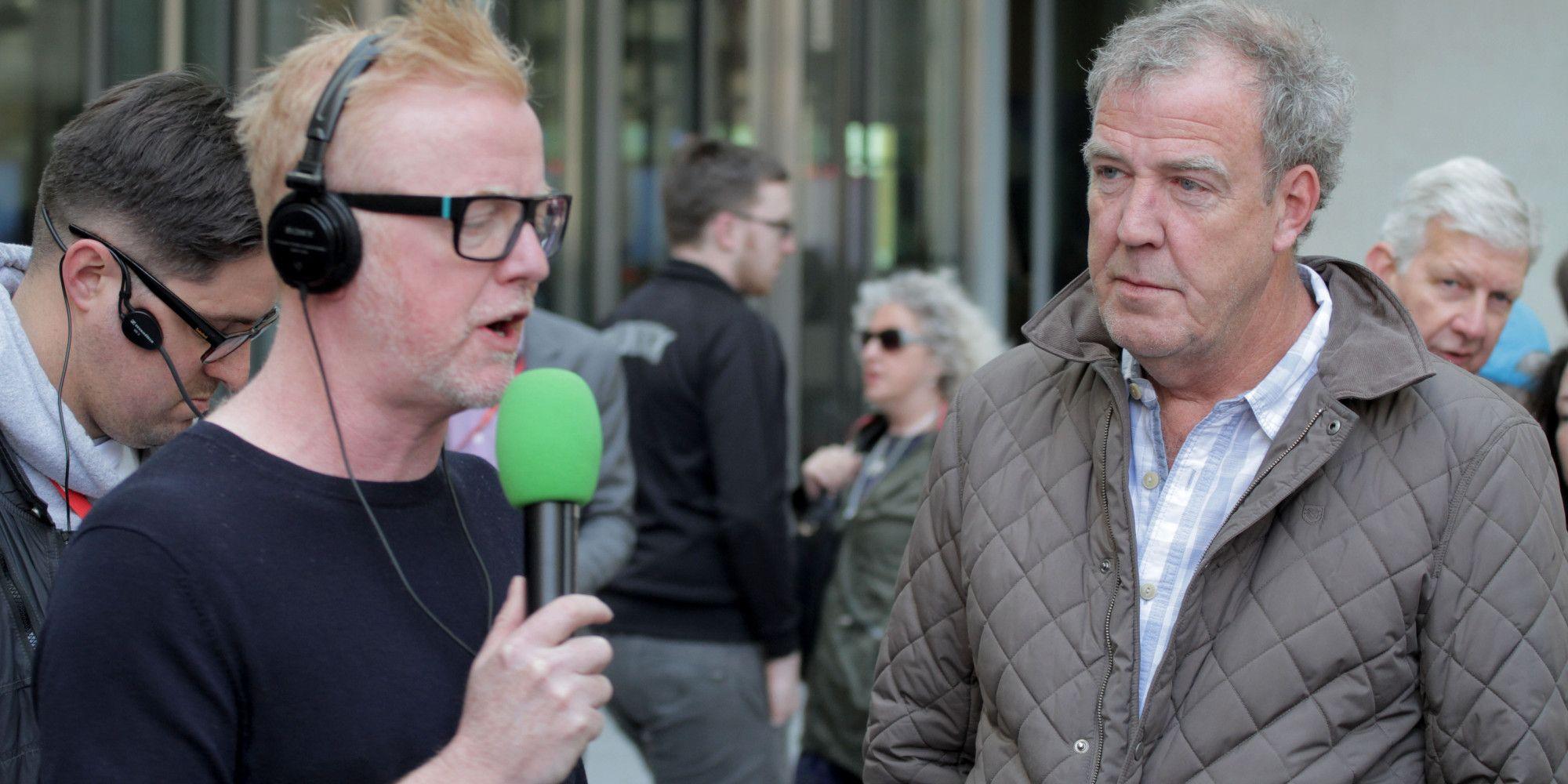Jeremy Clarkson on Chris Evans Radio 2 show. BBC Radio studios in Central London.