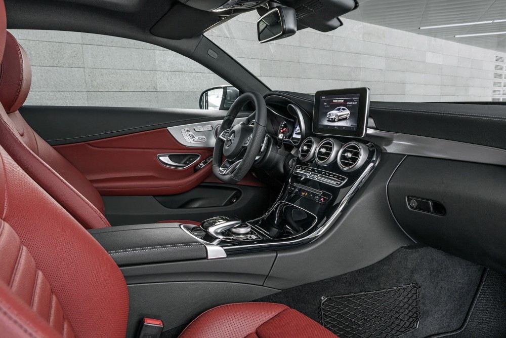 Mercedes-Benz C-Klasse Coupé C 300, Selenit Grau, Leder Cranberry rot Mercedes-Benz C-Class Coupé C 300, selenit grey, leather cranberry red
