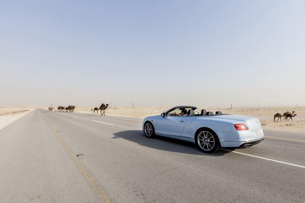 Bentley-Continental-GT-V8-S-Convertible-races-train-2