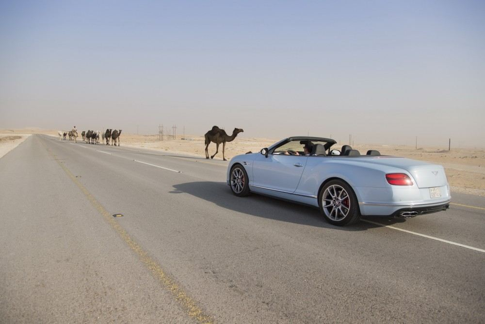 Bentley-Continental-GT-V8-S-Convertible-races-train-6