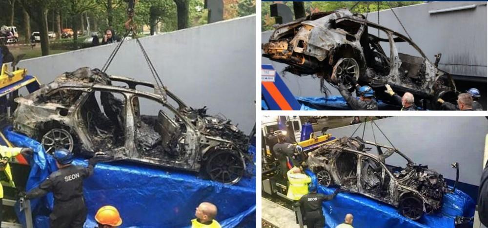 Jon Olsson's Former Audi RS6 burned