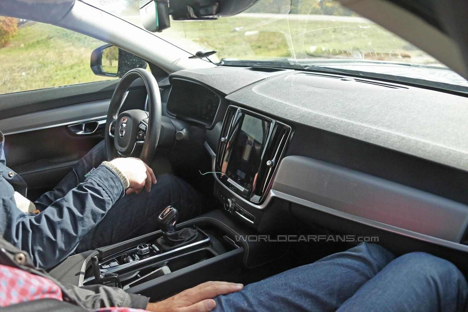 Volvo s90 spied again 2