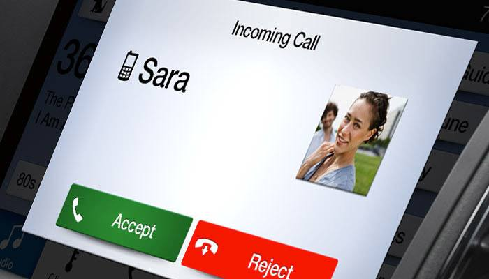 Incoming phone calls import contact images saved on the phone.