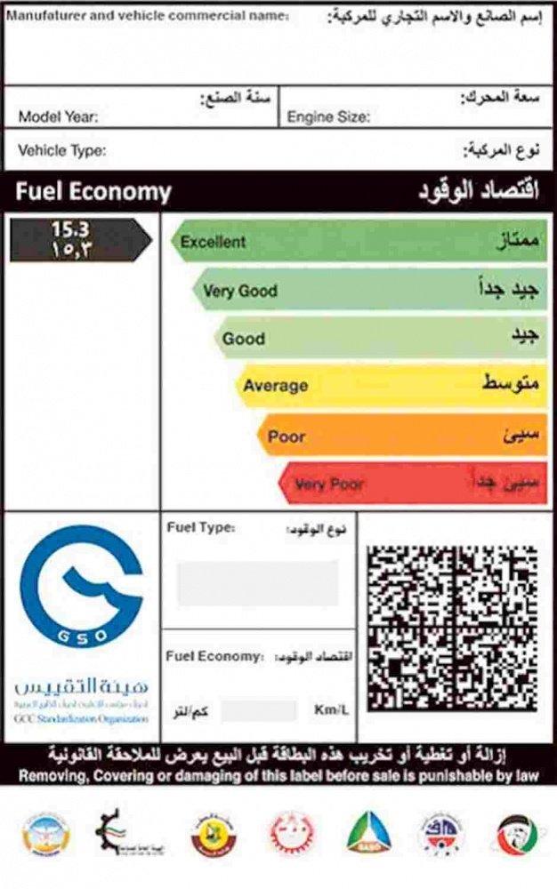 fuel efficiency card