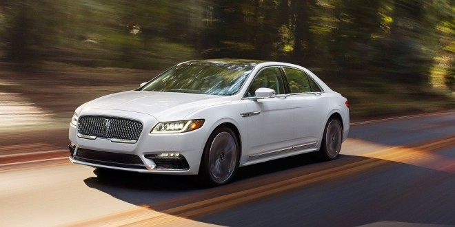 2017-Lincoln-Continental-front-three-quarter-in-motion-03