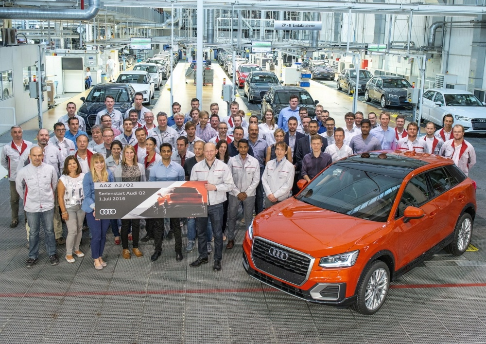 Start of series production of Audi Q2 at main plant in Ingolstadt at the analysis center.