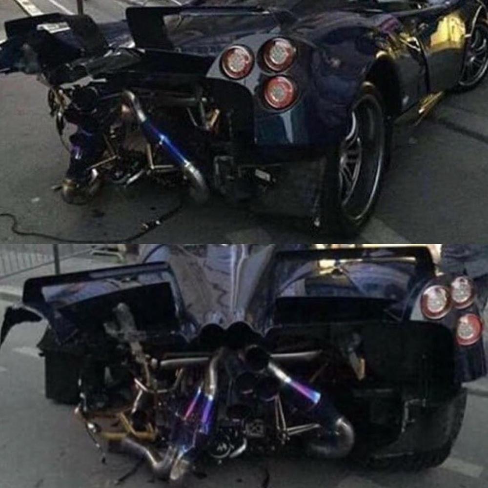 Pagani Huayra Pearl Crash 2