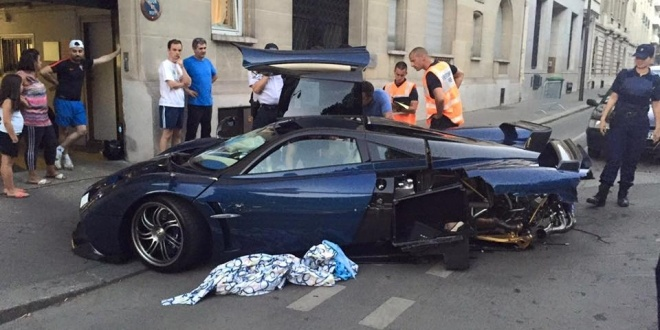 Pagani Huayra Pearl Crash 8