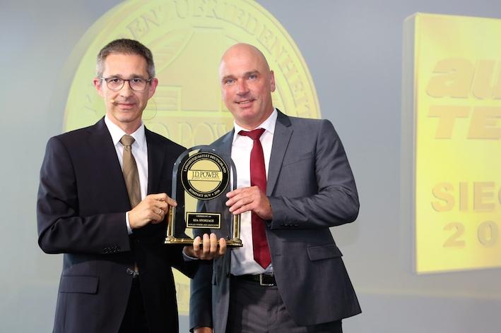 J.D. Power award handover