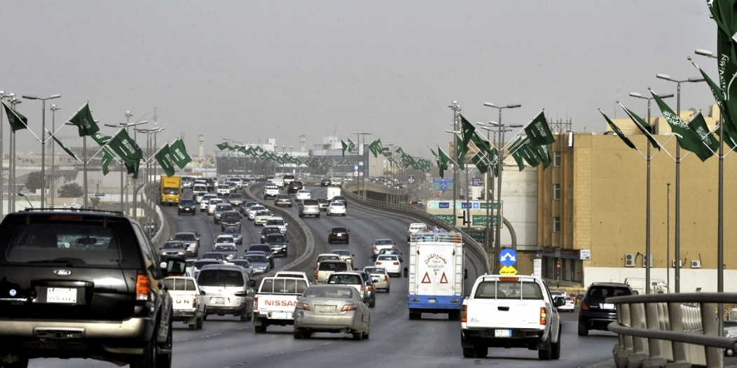 Traffic flows on February 18, 2011 on a