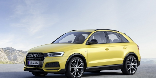 Audi Q3 2.0 TFSIStatic photo, Colour: Tukan Yellow