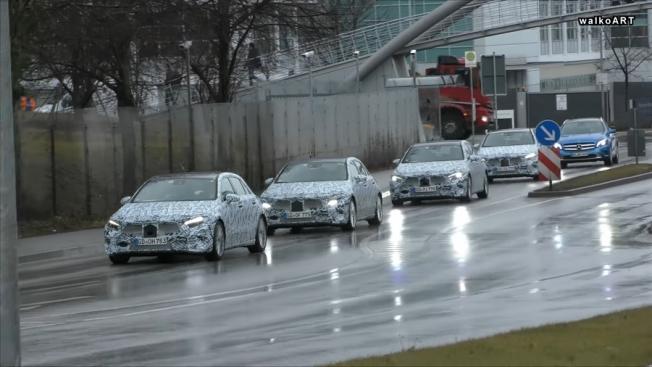 5 سيارات مرسيدس A-Class جديدة تظهر في فيديو تجسسي