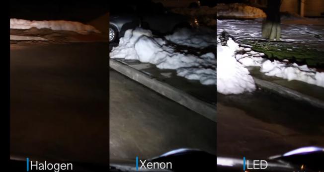 فيديو يوضح الفارق في مستوى الإضاءة بين الزينون و LED