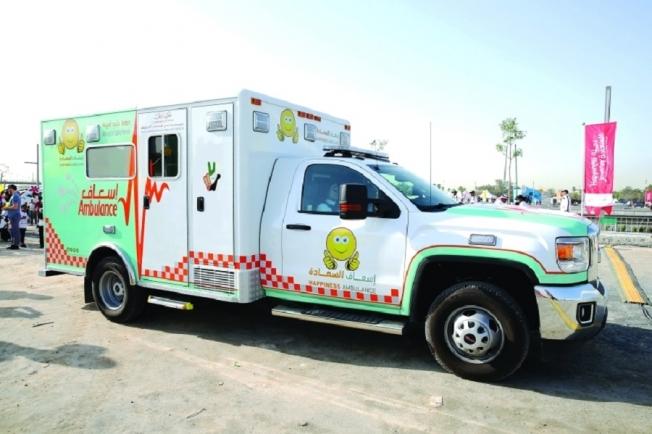 دبي تطلق إسعاف السعادة، السيارة الأولى من نوعها في العالم