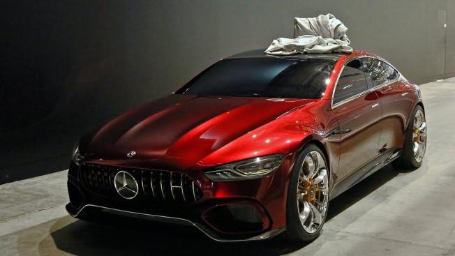 أستمع إلى هدير محرك مرسيدس AMG GT سيدان الاختبارية