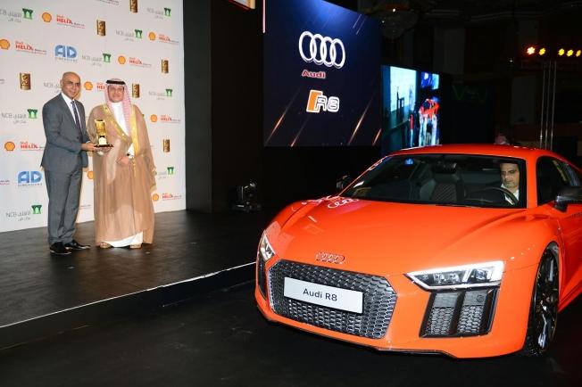 """اودي R8 تفوز بجائزة """"أفضل سيارة سوبر رياضية فاخرة"""" في السعودية"""