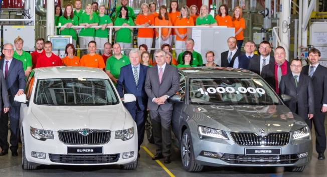 سكودا تحتفل بإنتاج مليون سيارة من سوبيرب