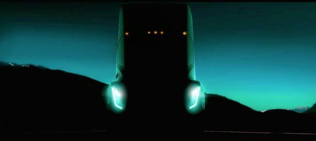 تيسلا تنشر صورة تشويقية لشاحنتها, وتعد بتفوقها على شاحنات الديزل