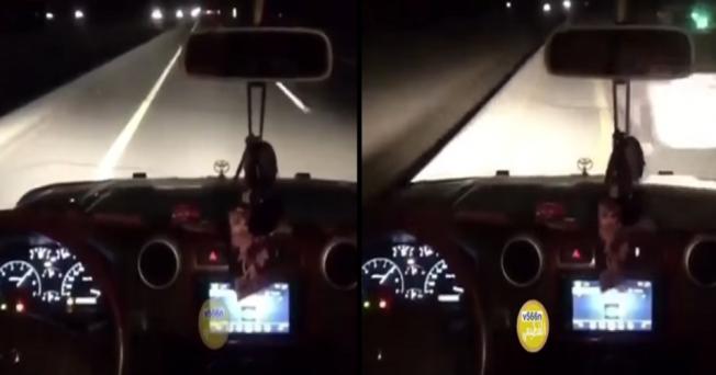 سائق يصوّر لحظات صعبة كادت أن تنتهي بحادث مميت