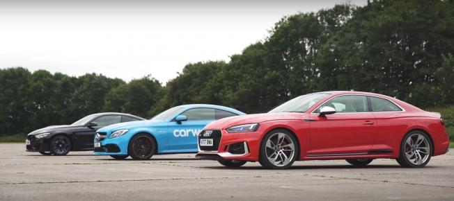 اودي RS5 الجديدة تتحدى بي ام دبليو M4 ومرسيدس C63 S AMG في سباق التسارع