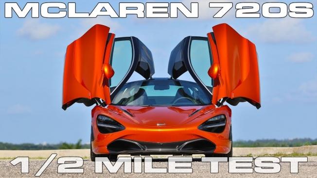 مكلارين 720S تنافس أقوى السيارات في تسارع النصف ميل