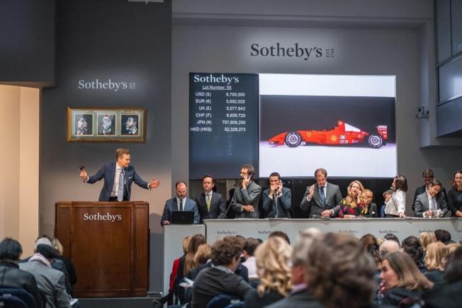 بيع متسابقة الفورمولا ون الخاصة بمايكل شوماخر مقابل 28 مليون ريال