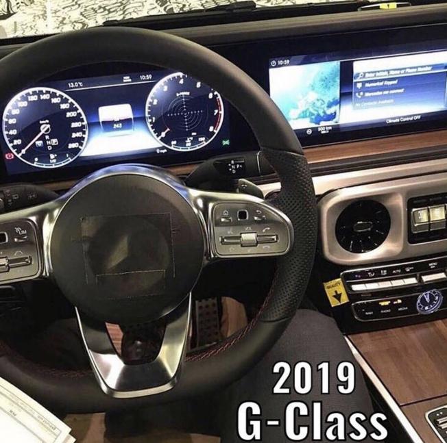 تسريب داخلية الجيل الجديد من مرسيدس G-Class مرة أخرى