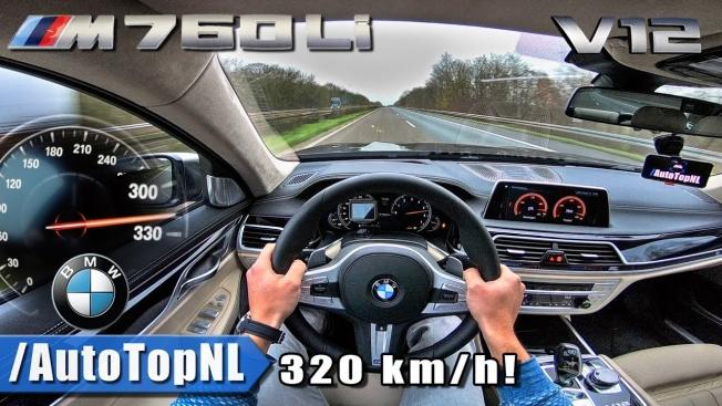 شاهد بي ام دبليو M760i تصل إلى سرعة 320+ كم/س