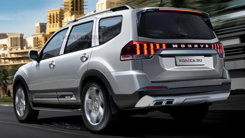 هكذا قد تبدو كيا موهافي الجديدة كلياً Kia-Mohave-2020-rear