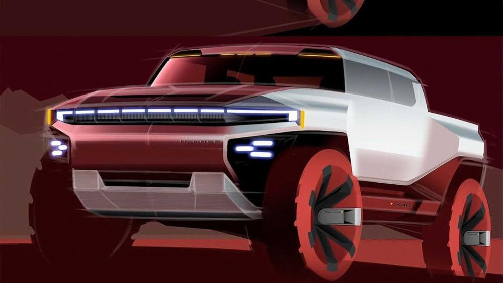 جنرال موتورز تكشف عن رسومات أول نماذج همر الكهربائية