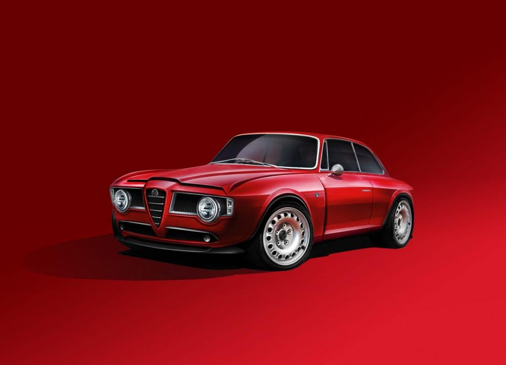كشفت شركة ألمانية عن سيارة Emilia GT العصرية بتصميم كلاسيكي وإنتاج محدود مع محرك ألفا روميا وتصميم مستمد منها.
